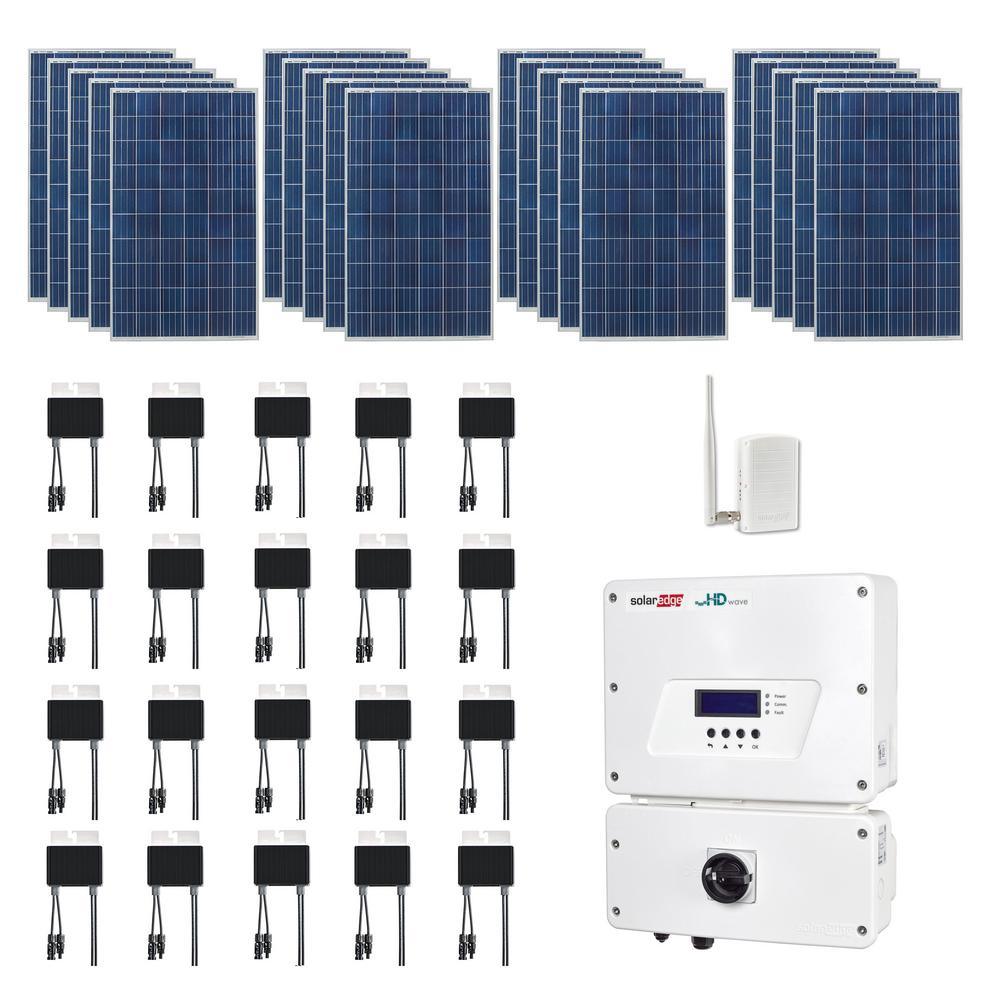 5,300 Watt Expandable Poly Crystalline PV Grid Tied Solar Power Kit