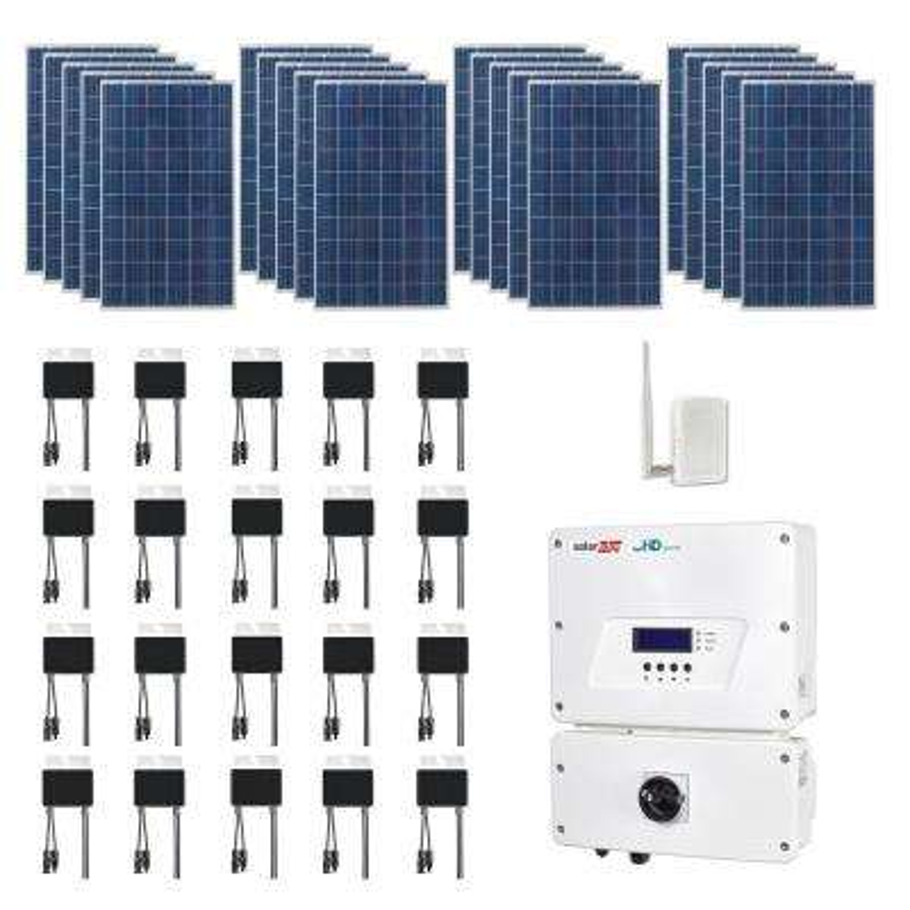 5,300-Watt Expandable Poly-Crystalline PV Grid-Tied Solar Power Kit