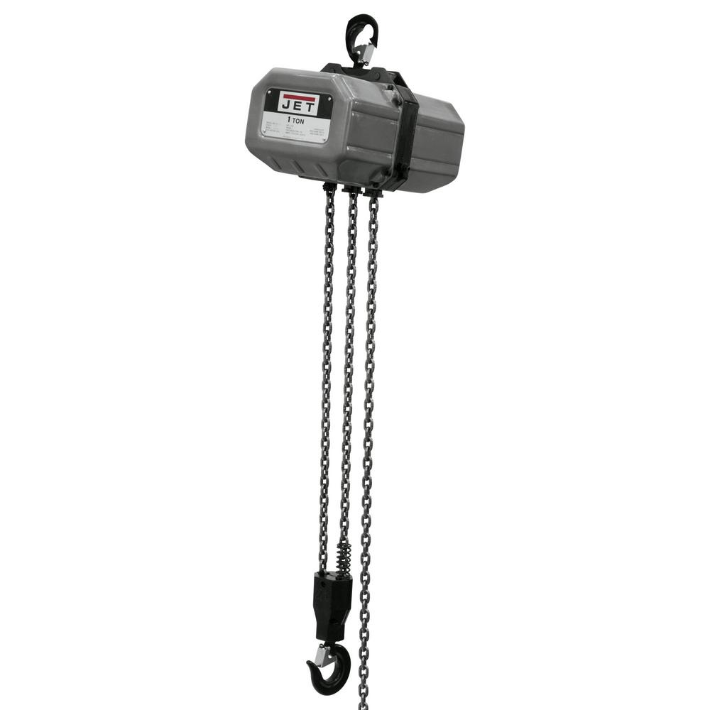 JET 1-Ton Capacity 20 ft. Lift Electric Chain Hoist 1-Phase 115/230-Volt 1SS-1C-20