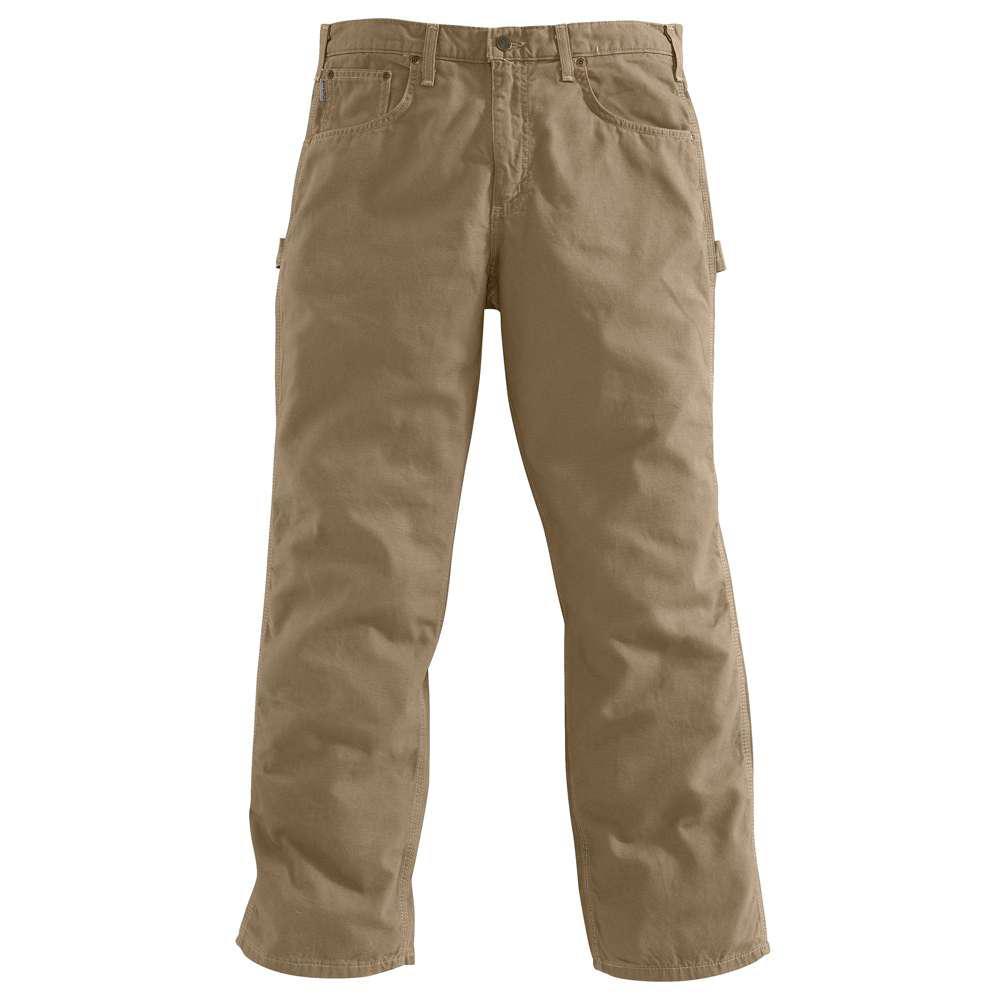 Men's 32x30 Golden Khaki Cotton Straight Leg Non-Denim Bottoms