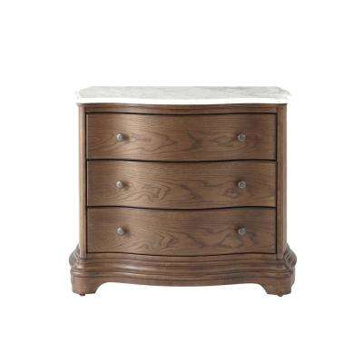 Colton 3-Drawer Medium Wood Tone Nightstand