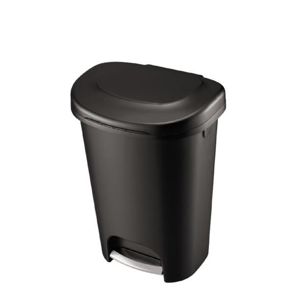13 Gal. Black Step-On Trash Can