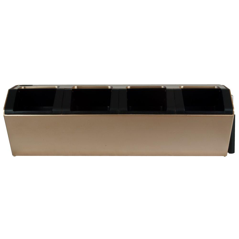 Pride Garden Products Vesi 7 in. L x 22.5 in. W x 7 in. H Gold Plastic Self-Watering Wall Planter