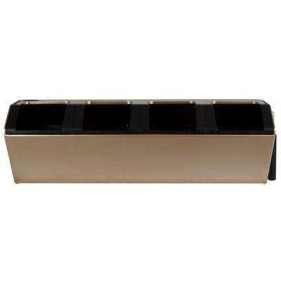 Vesi 7 in. L x 22.5 in. W x 7 in. H Gold Plastic Self-Watering Wall Planter