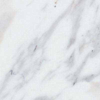 3 in. x 5 in. Laminate Countertop Sample in Calcutta Marble with Premium Textured Gloss