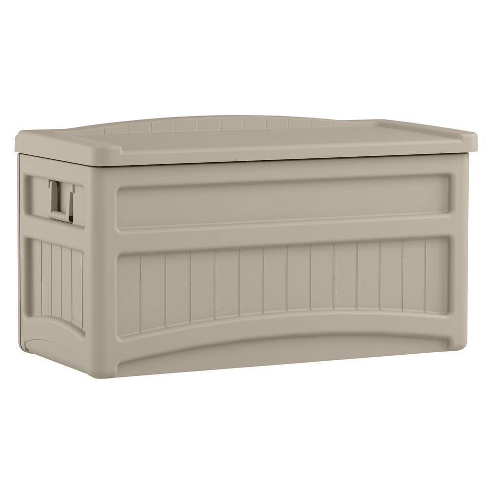 Suncast 73 Gal Resin Deck Box Db7500 The Home Depot