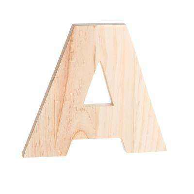 8 In H Wooden Letter A In Unfinished Wood