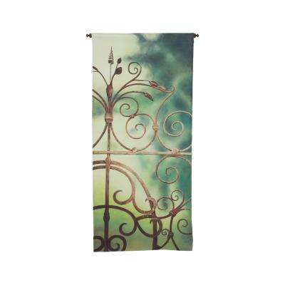 "Multicolor ""Garden Gate"" Wall Tapestry"