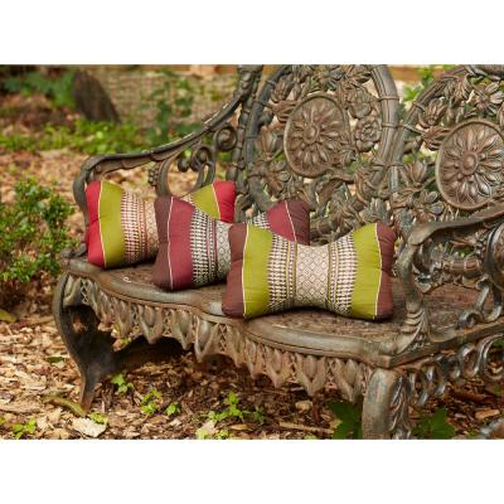 Star Aqua Stripes Cotton 14.5 in. x 4.5 in. Throw Pillow