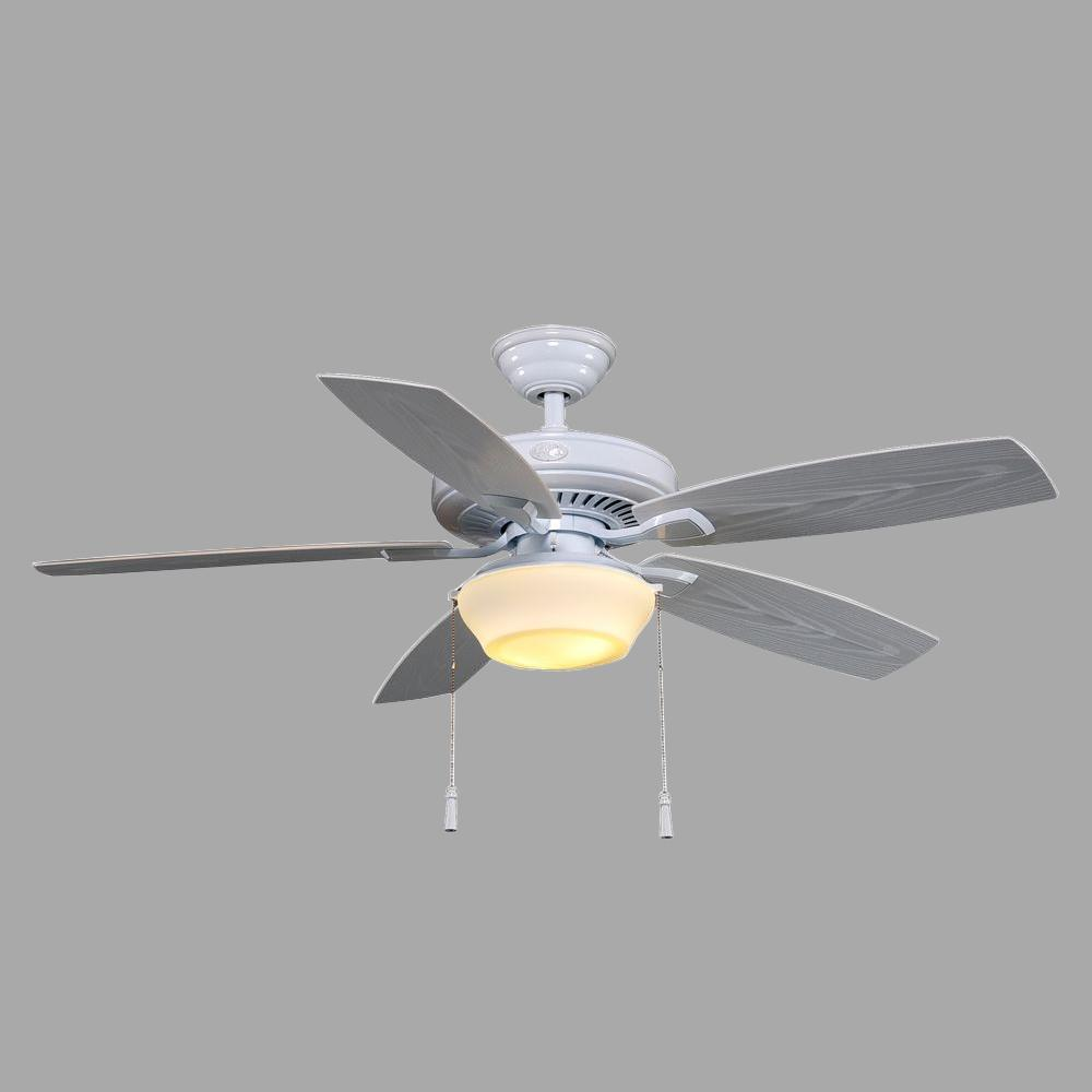 Hampton Bay Gazebo II 52 in. Indoor/Outdoor White Ceiling Fan with Light Kit