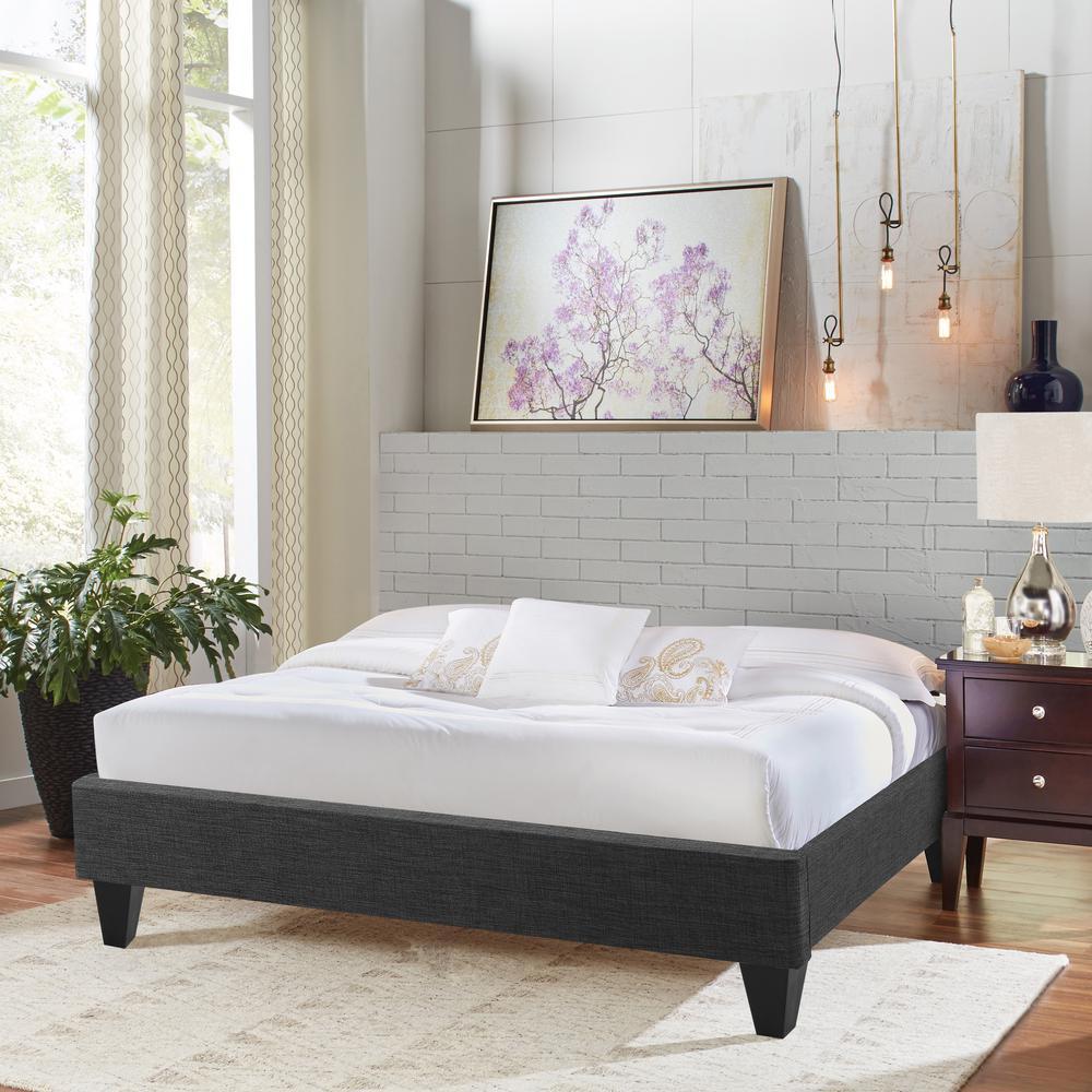Trento Upholstery Fabric Full Platform Bed