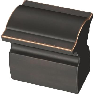 Classic Curve 1 in. (25 mm) Bronze with Copper Highlights Cabinet Knob (5-Pack)