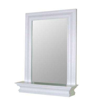 Stratford 24 in. x 18 in. Framed Wall Mirror in White