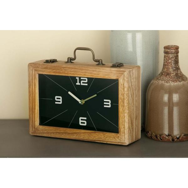Litton Lane 8 in. x 12 in. Vintage Brown and Black