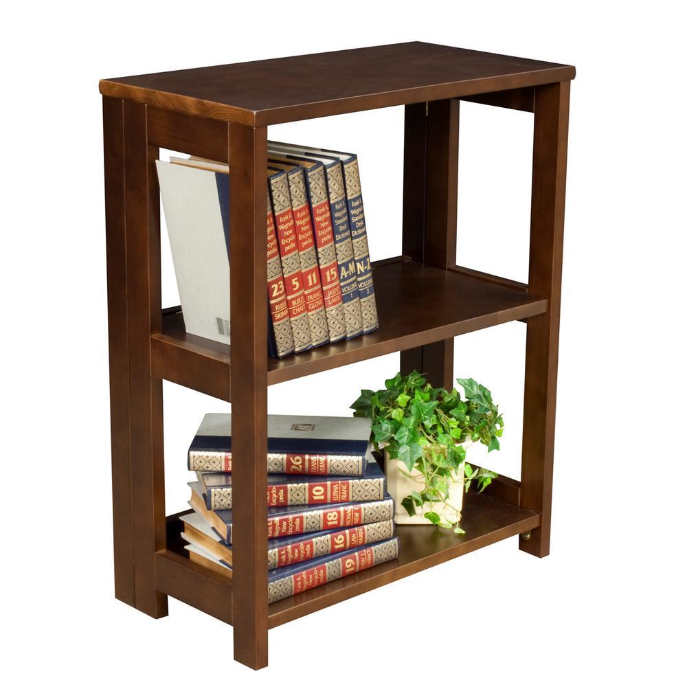 Flip Flop Mocha Walnut 28 in. Tall Folding Bookcase