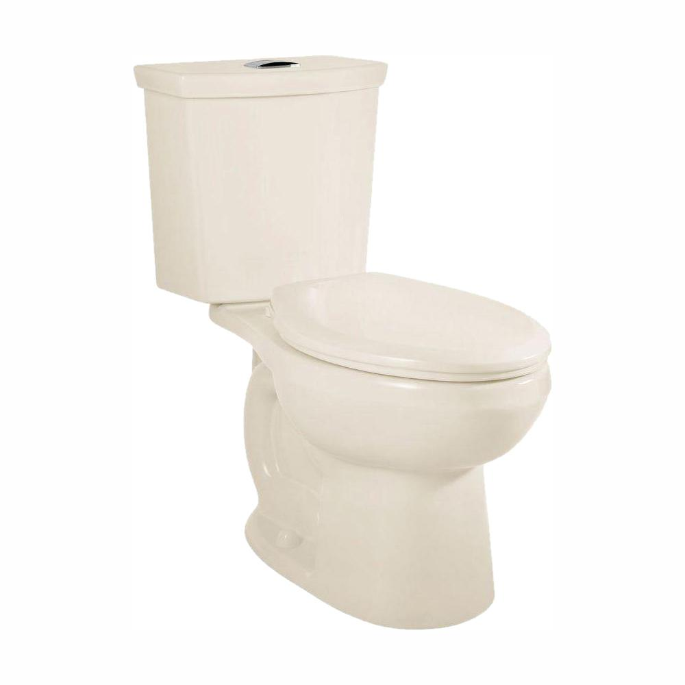 American Standard H2Option 2-Piece 0.92/1.28 GPF Dual Flush Round Front Toilet with Liner in Linen, Seat Not Included