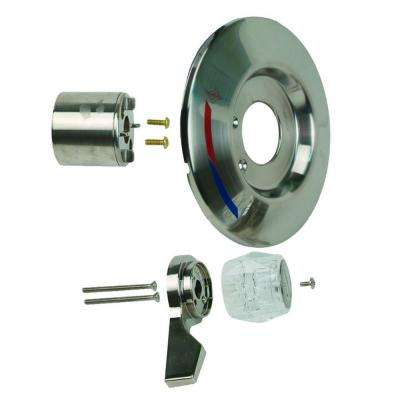 1-Handle Tub and Shower Faucet Trim Kit for Mixet Pressure Balanced Valves in Satin Nickel/Clear (Valve Not Included)