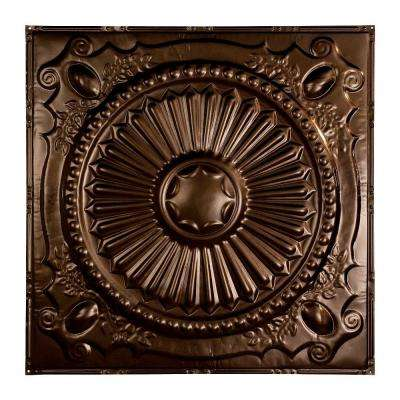 Toronto 2 ft. x 2 ft. Nail-up Tin Ceiling Tile in Bronze Burst