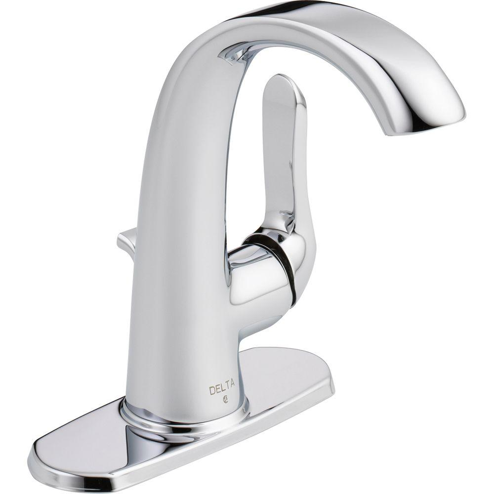 Delta Soline Single Hole Single-Handle Bathroom Faucet in Chrome ...