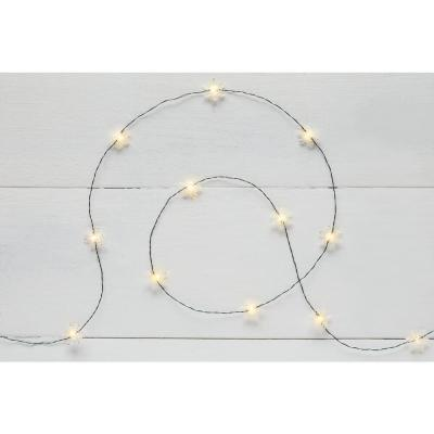 6 ft. 18-Light LED Warm White Snowflake Ultra Slim String Light
