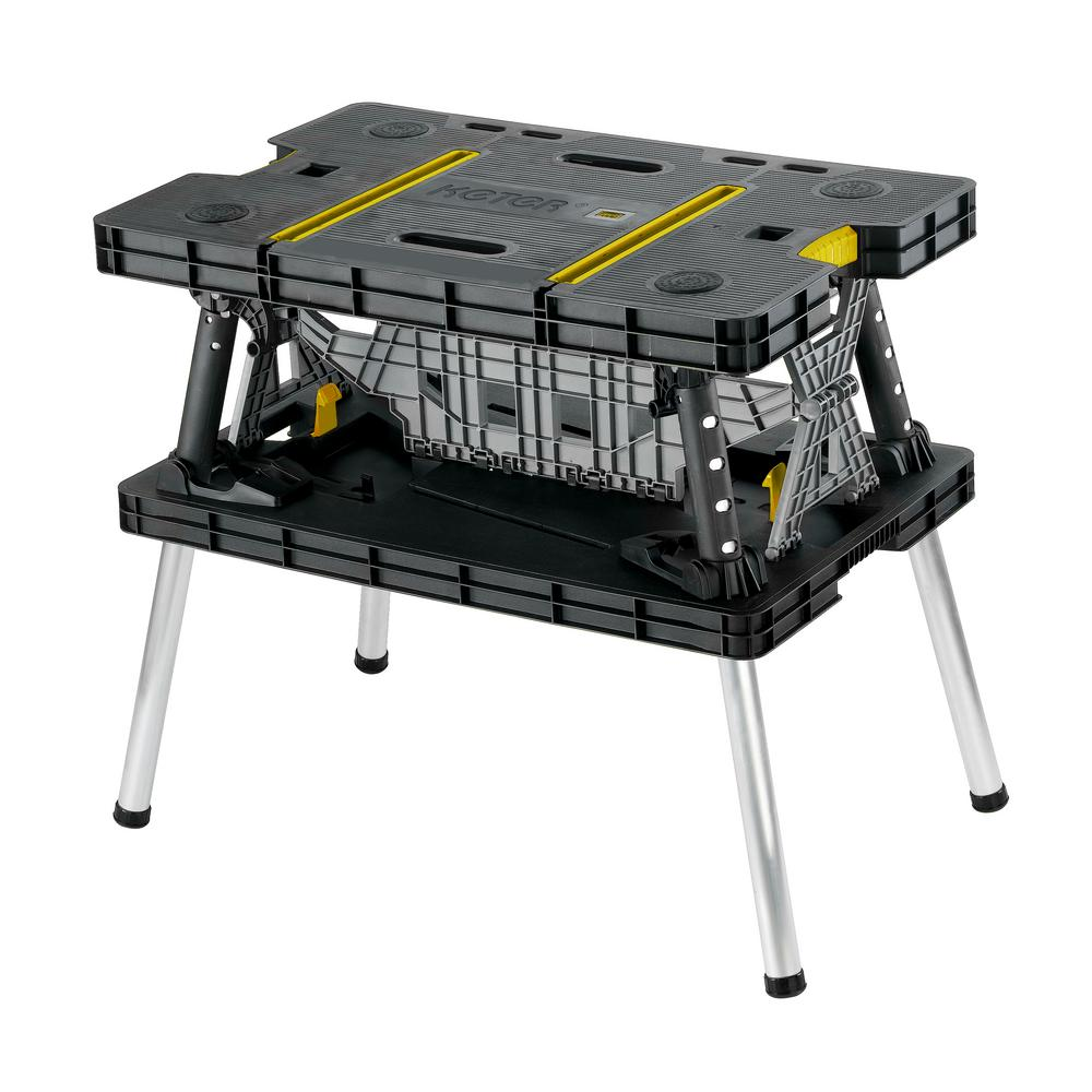 Keter 21.65 in. x 33.46 in. x 29.7 in. Folding Work Table