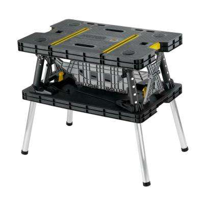 21.65 in. x 33.46 in. x 29.7 in. Folding Work Table