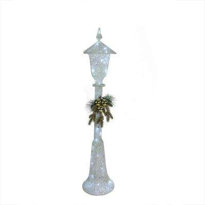 48 in. Christmas LED Lighted Indoor/Outdoor Lamp Post Decoration and Cool White Lights