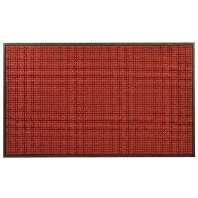 Guzzler Red/Black 48 in. x 72 in. Rubber-Backed Entrance Mat