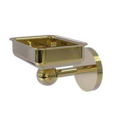 Skyline Collection Wall Mounted Soap Dish in Unlacquered Brass