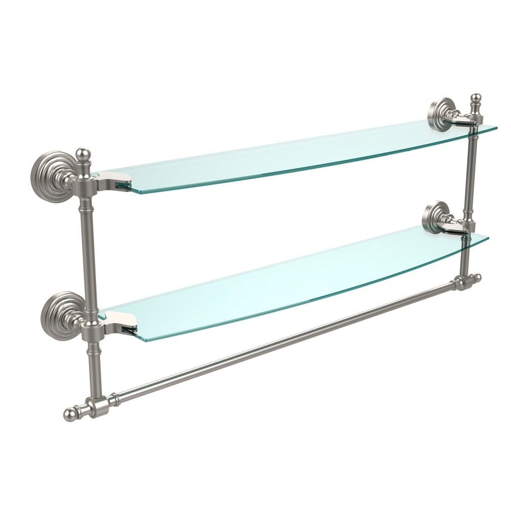 Allied Brass P1000-1-22-GAL-IRW-PEW Prestige Skyline Collection 22 Inch Solid IPE Ironwood Shelf with Gallery Rail Antique Pewter