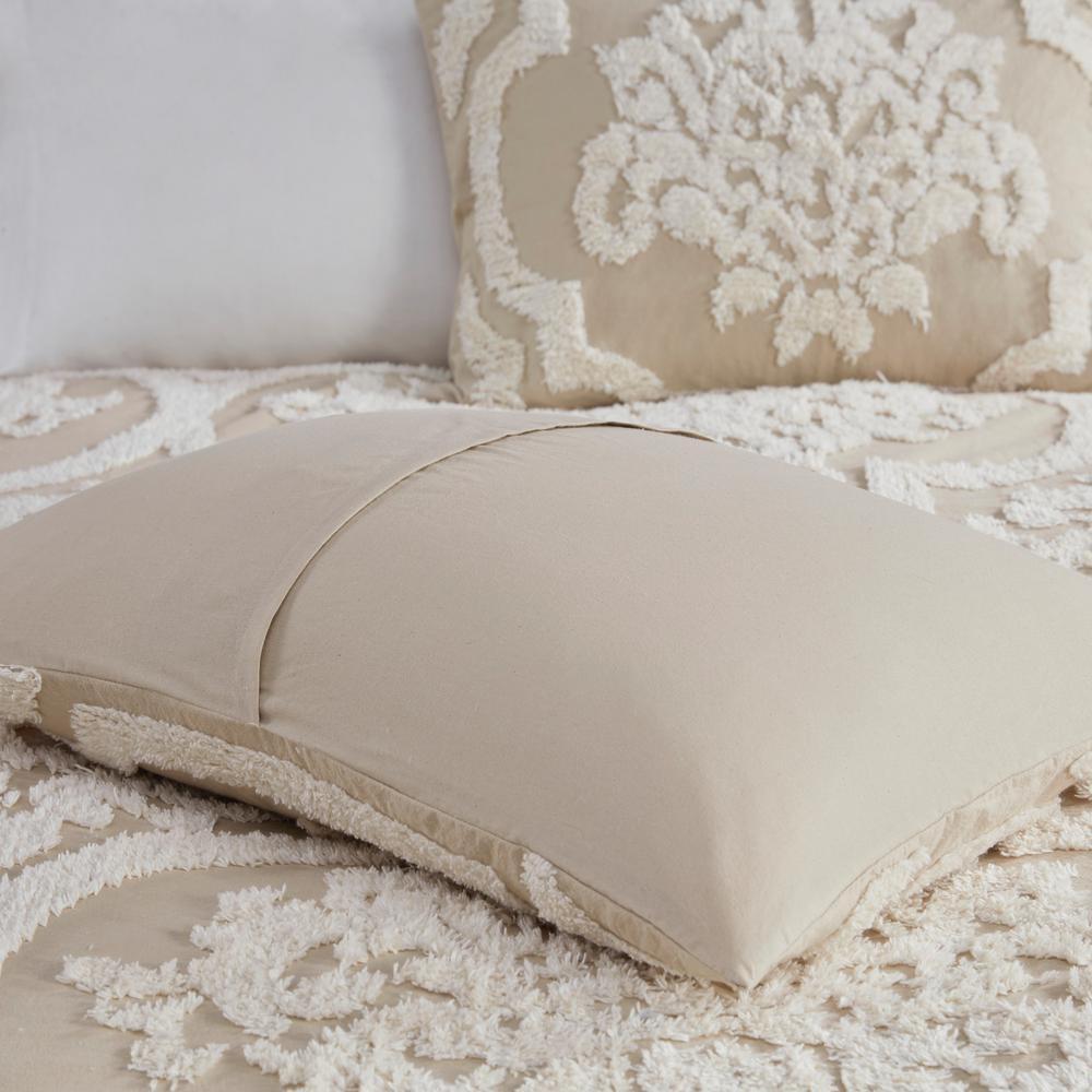 Aeriela 3-Piece Tufted Cotton Chenille Damask Coverlet Set