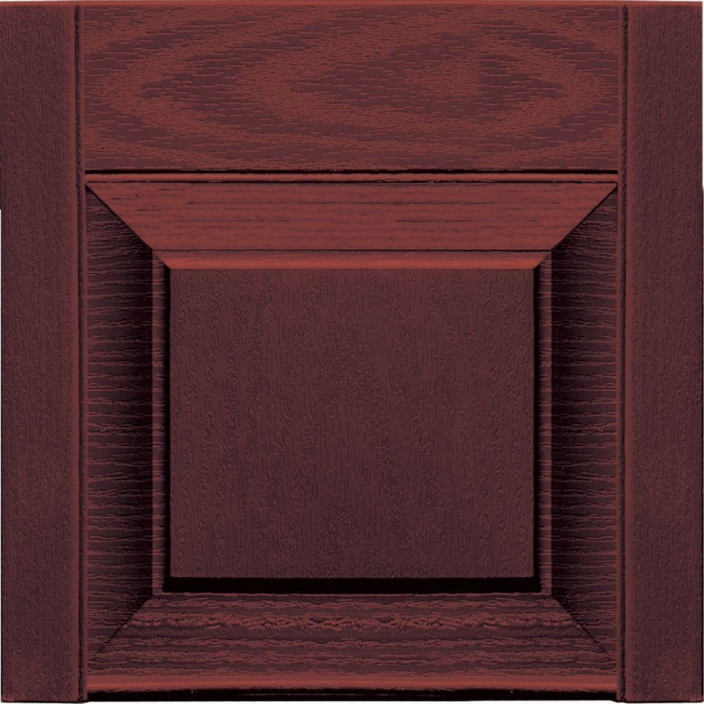 Builders Edge 12 in. x 12 in. Raised Panel Design Bordeaux Transom Tops Pair #167-DISCONTINUED