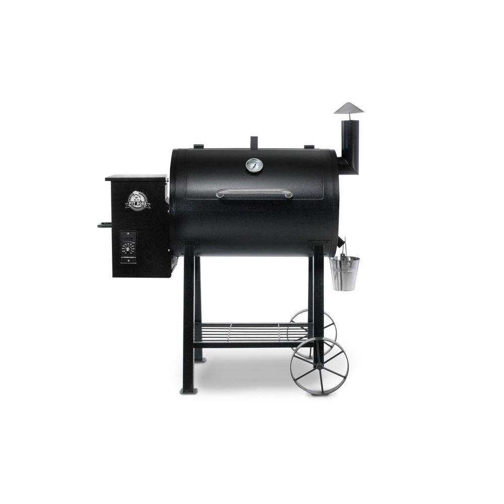 Pit boss 820fb pellet grill in black 71820 the home depot for Pit boss pellet grill