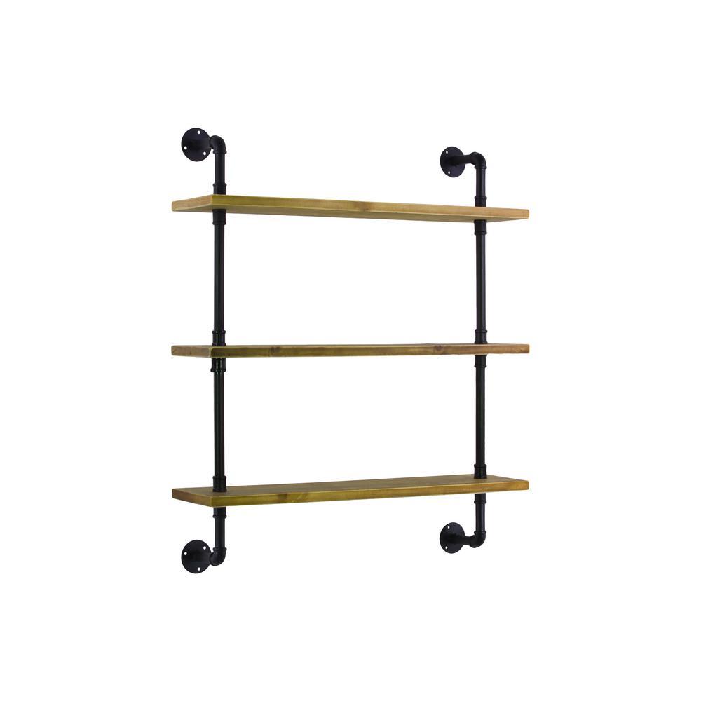27.75 in. x 32 in. 3 Wood Wall Shelf