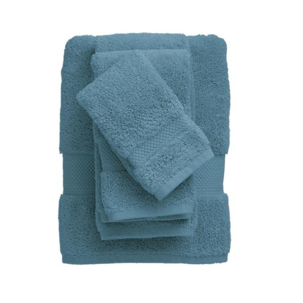 The Company Store Legends Sterling Supima Cotton Fingertip Towel in Shore Blue (Set of 2)