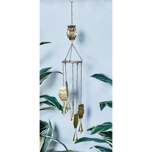 Gold, Silver and Copper Iron Owls and Bells Wind Chimes (Set of 3) by