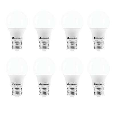 40-Watt Equivalent A19 Non Dimmable LED Light Bulb Soft White (8-Pack)