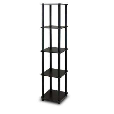 Turn-N-Tube Espresso Corner Open Bookcase