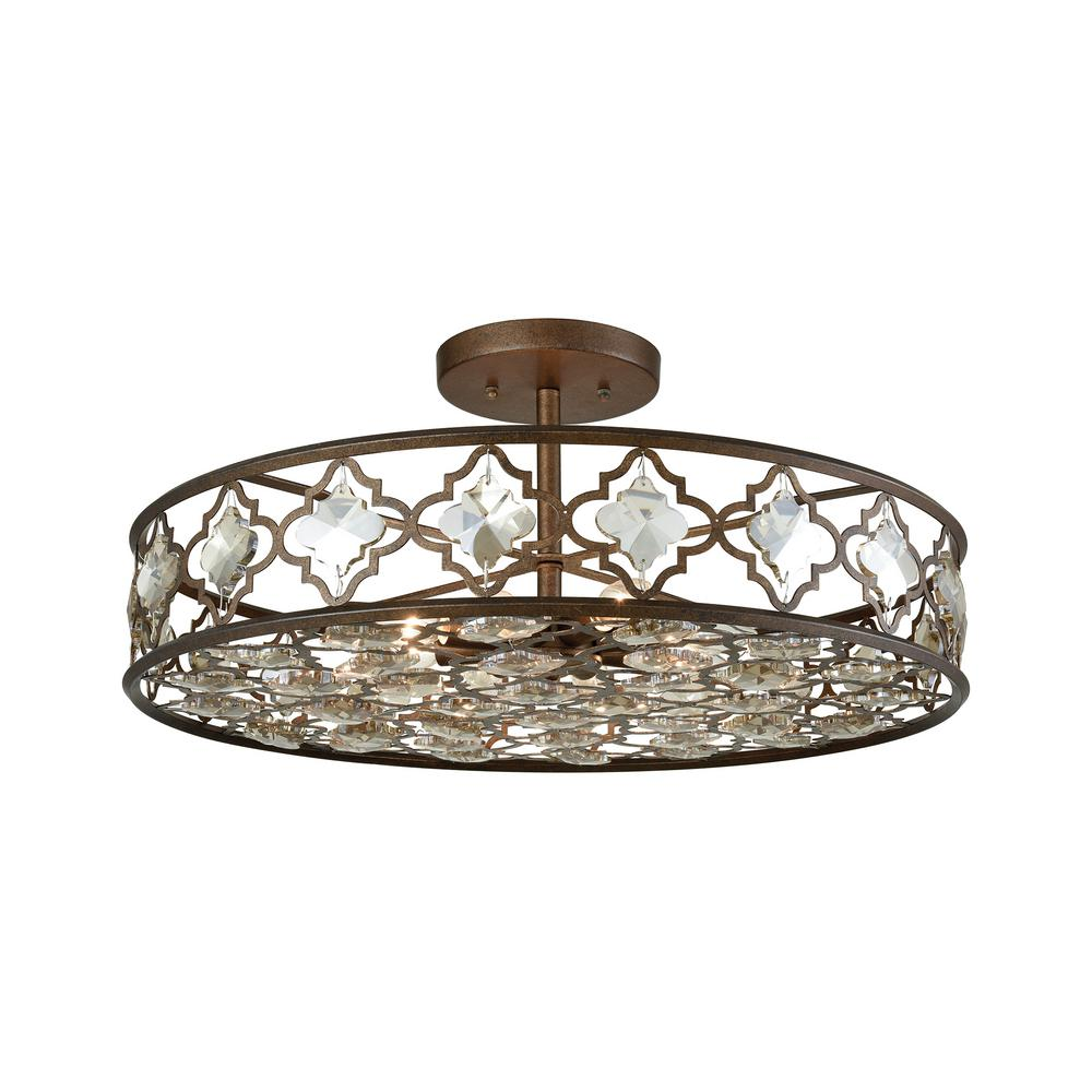 Titan Lighting Armand 8-Light Weathered Bronze With