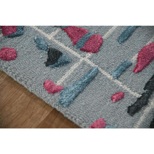 Perla Pink Blue 8 Ft 6 In X 11 Ft 6 In Transitional Wool Viscose Area Rug Prl2186116 The Home Depot