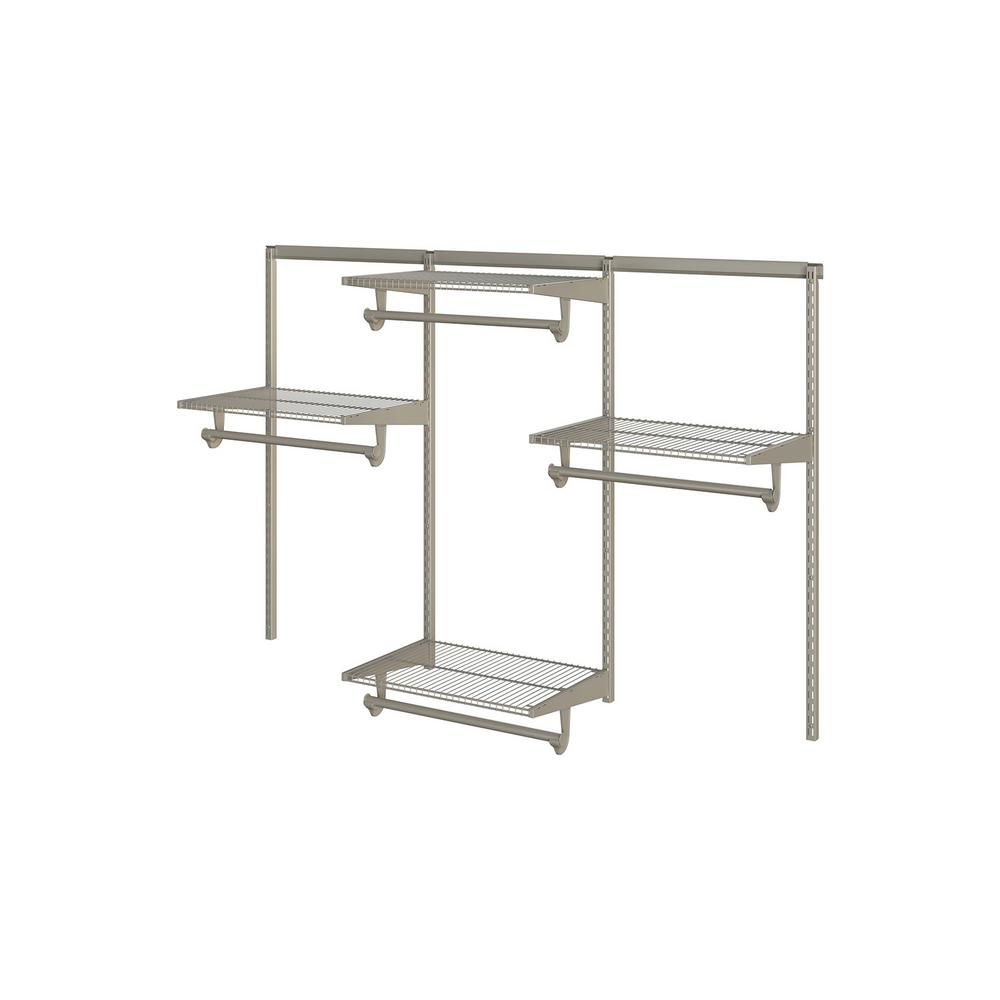 Closet Culture 16 in. x 72 in. W x 48 in. H Wire Closet System with ...