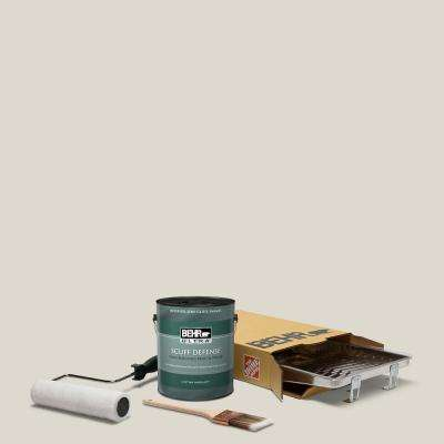 1 gal. #N320-1 Campfire Ash Extra Durable Semi-Gloss Enamel Interior Paint & 5-Piece Wooster Set All-in-One Project Kit