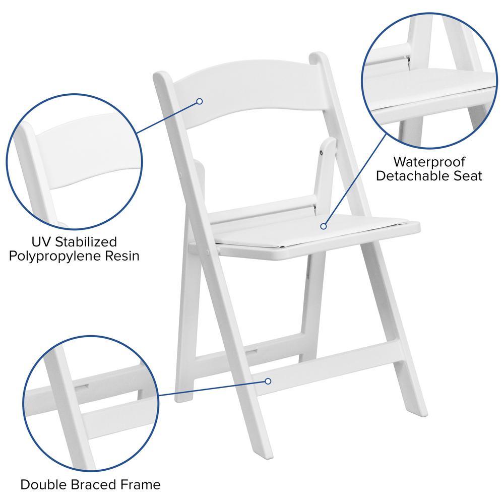 Wondrous Flash Furniture Hercules Series 1000 Lb Capacity White Creativecarmelina Interior Chair Design Creativecarmelinacom