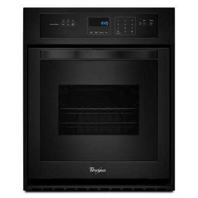 24 In Single Electric Wall Oven Black