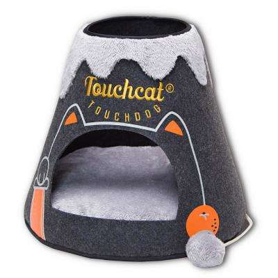 Black and White Molten Lava Designer Triangular Cat Pet Kitty House Bed