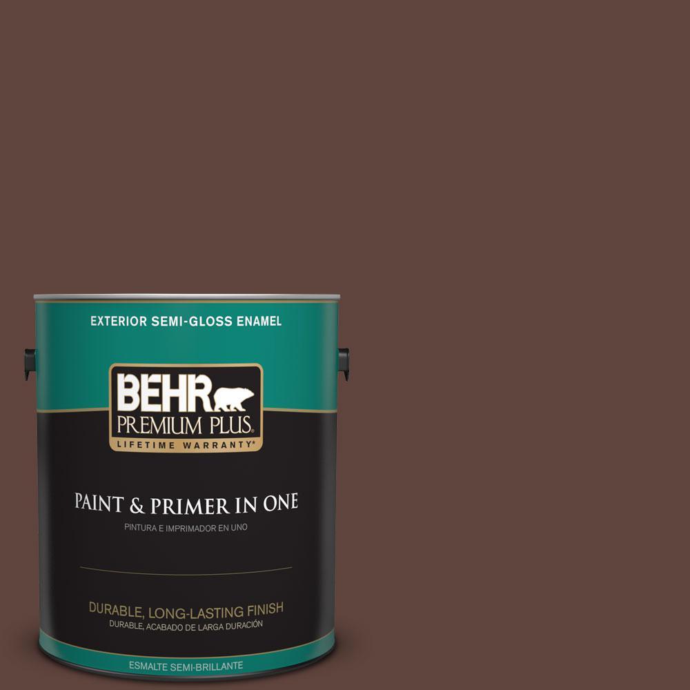 BEHR Premium Plus 1-gal. #S-G-780 Spiceberry Semi-Gloss Enamel Exterior Paint