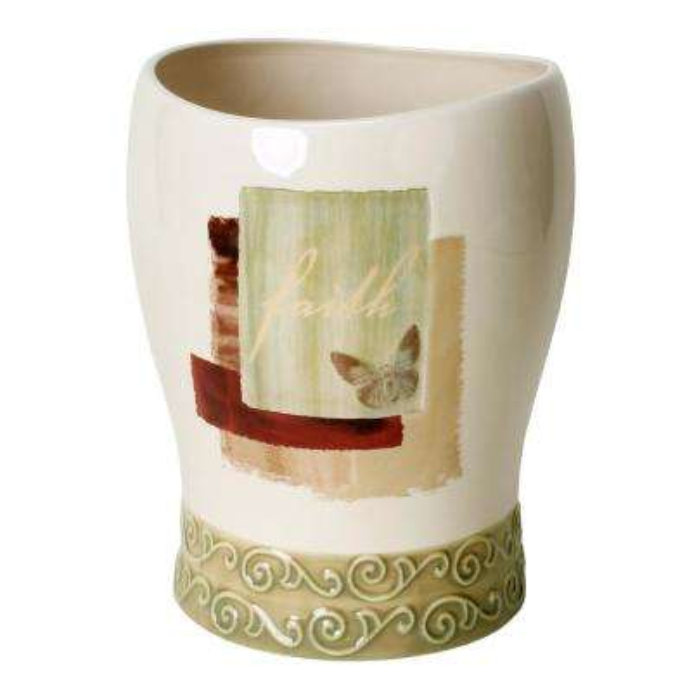 Inspire Freestanding Wastebasket in Parchment