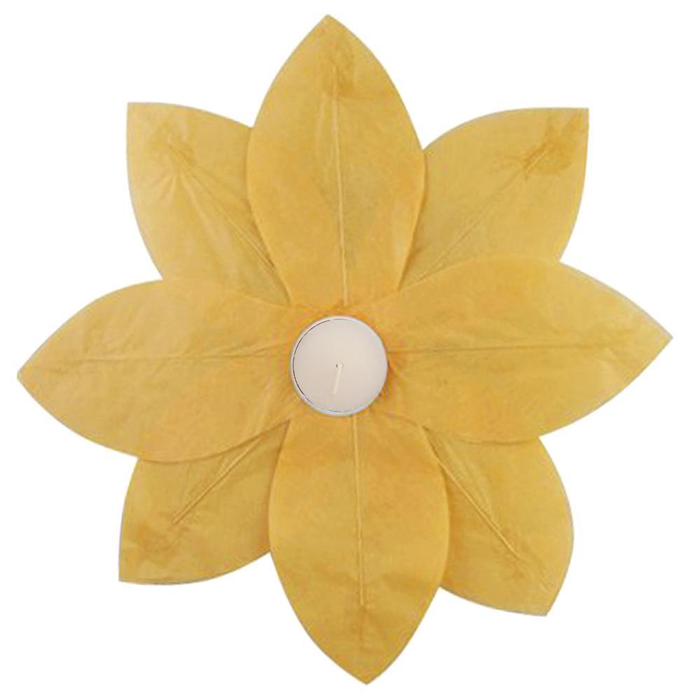 Yellow Floating Lotus Lanterns (6-Count)