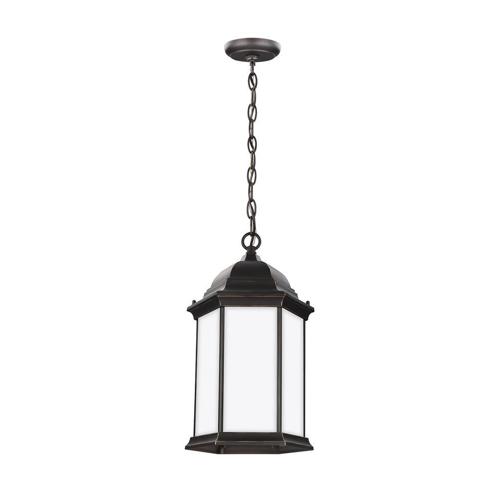 Sevier 1-Light Antique Bronze Outdoor Pendant Light