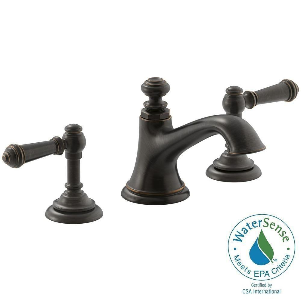 KOHLER Artifacts 8 In. Widespread 2 Handle Bell Design Bathroom Faucet In Oil  Rubbed Great Pictures